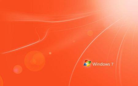 Free Orange Windows 7 Wallpaper