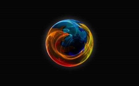 Free Firefox Abstract Logo Wallpaper