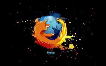 Free Firefox Splatter Wallpaper