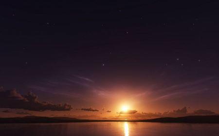 Free Sun Setting on Sea