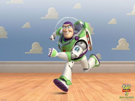 Free Buzz Lightyear Running in Toy Story 3