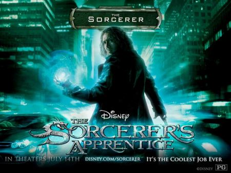 Free Nicolas Cage in Disney's Sorcerers Apprentice Poster