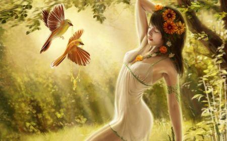 Free Digital Fantasy Girl Art