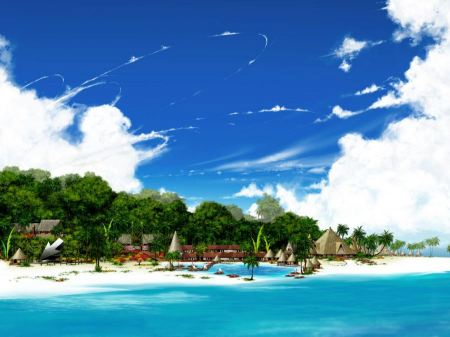 Free Beautiful Island Resort Wallpaper