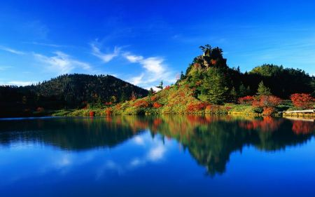 Free Autumn Lake Reflection Japan