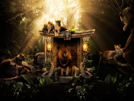 Free Royal Lion Family