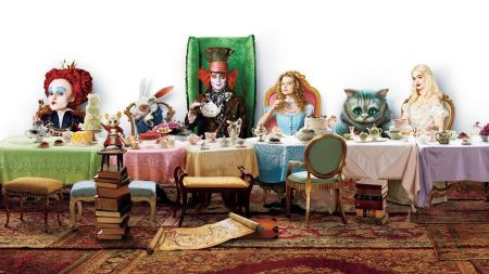 Free Alice in Wonderland Tea Party Wallpaper