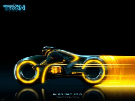 Free TRON Yellow Light Cycle