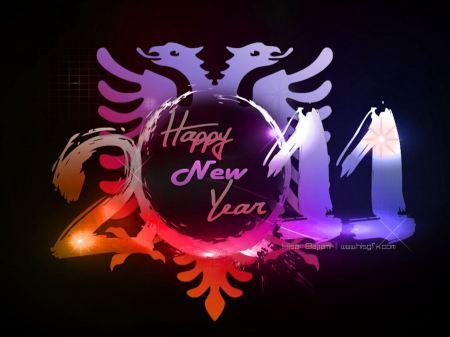 Free Happy New Year 2011 - Widescreen Wallpaper