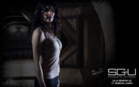 Free Julia Benson in Stargate Universe Wallpaper