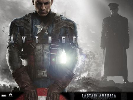 Free Captain America Gray Background