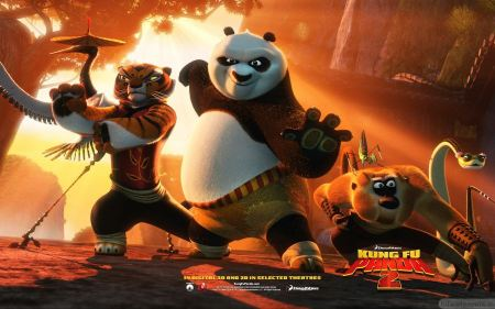 Free Kung Fu Panda 2 Tigress Po and Monkey