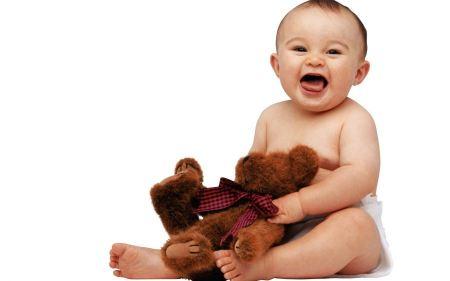 Free Cute Baby with Teddy Bear