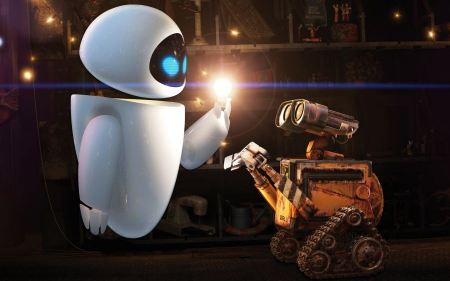 Free EVE and WALL-E Wallpaper