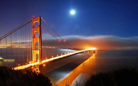 Free San Francisco Bridge Night Lights