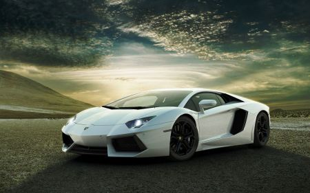 Free White Lamborghini Aventador
