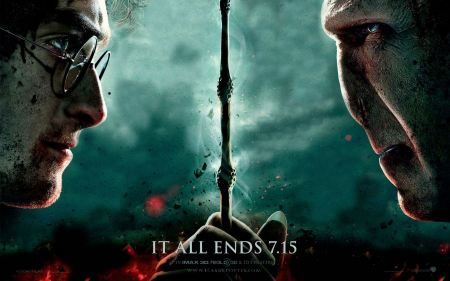 Free Harry Potter and Voldemort in Deathly Hallows Part 2 Wallpaper