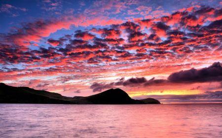 Free Mountain Lake After Sunset