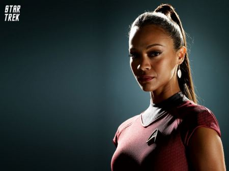 Free Zoe Saldana as Uhura in Star Trek