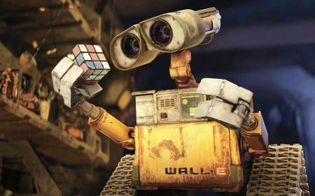 Free WALL-E Rubiks Cube Wallpaper