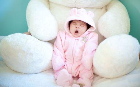 Free Cute Baby Yawning