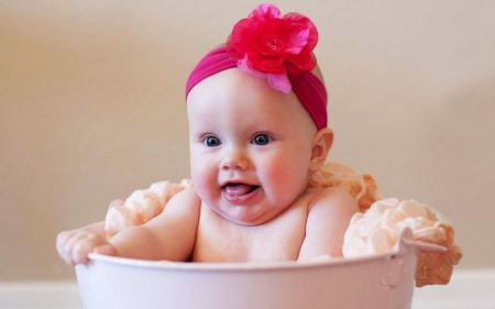 Free Baby Girl with Pink Bow