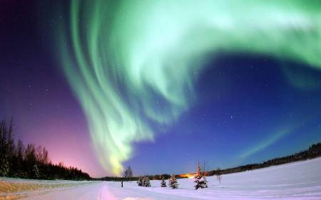 Free Aurora Borealis Green SKy