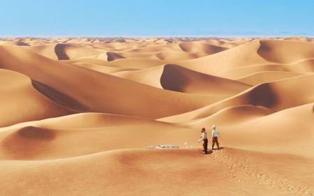Free Tintin Adventures Desert Scene