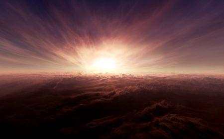 Free Sun Above the Clouds
