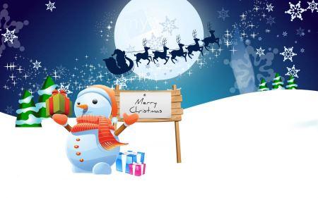 Free Snowman Merry Christmas