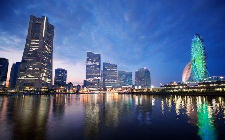 Free Sunset in Yokohama Japan