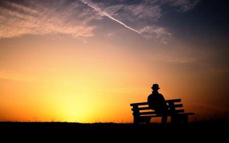 Free Man at Sunset