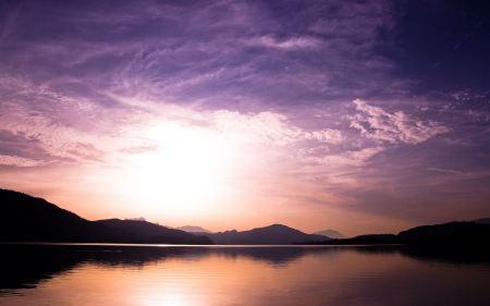 Free Sunset Over Lake