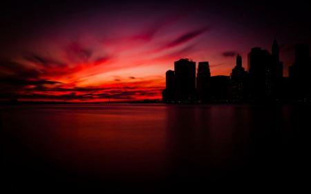Free Sunset in Manhattan
