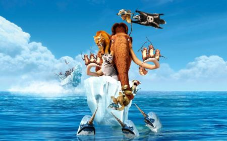 Free Ice Age 4 Continental Drift Characters Wallpaper