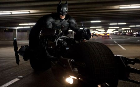 Free Batman in The Dark Knight Rises Riding Motorcycle