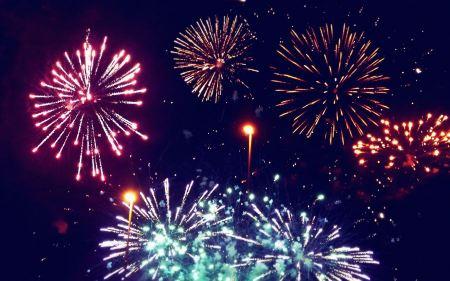 Free Fireworks Background