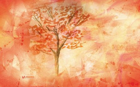 Free Fall in October Painting Wallpaper