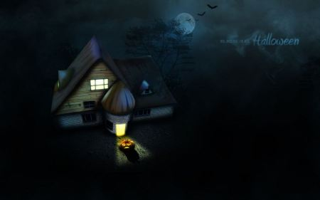 Free Halloween House Wallpaper