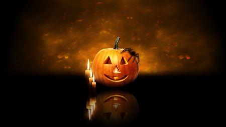 Free Halloween Pumpkin Candles