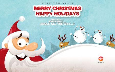 Free Merry Christmas Happy Holidays