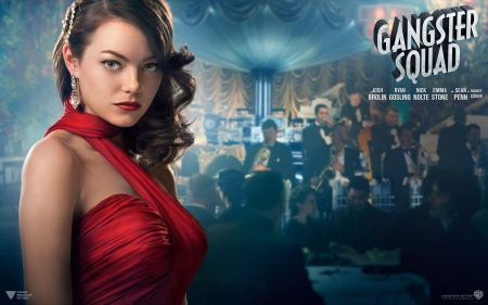 Free Emma Stone in Gangster Squad Wallpaper