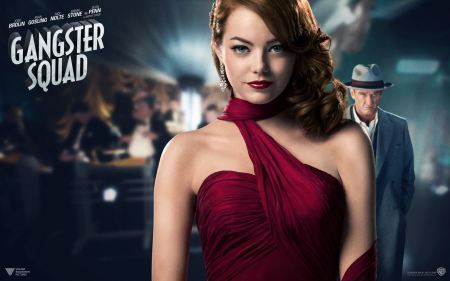 Free Gangster Squad Emma Stone and Sean Penn