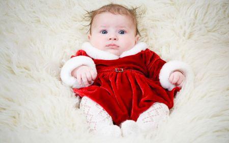Free Adorable Baby in Santa Costume