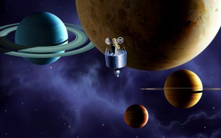 Free Incredible Galaxy Planets And Spaces Wide Wallpaper