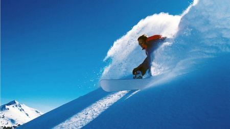 Free Monstrous Snow and Snowboarder
