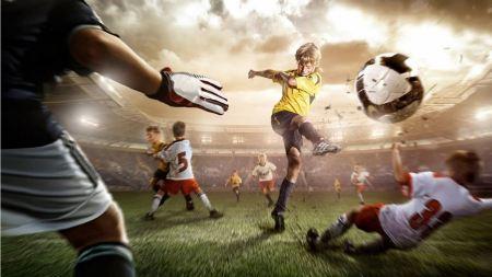 Free Kids Playing Serious Soccer