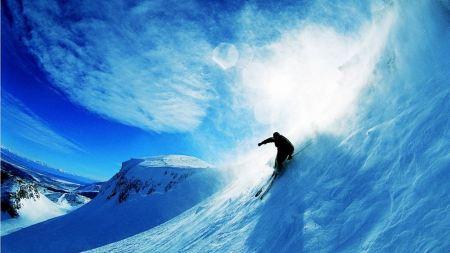 Free Beautiful Snowboarding Scene