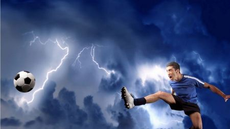Free Intense Soccer Kick