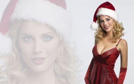 Free Sexy Girl In A Red Christmas Dress